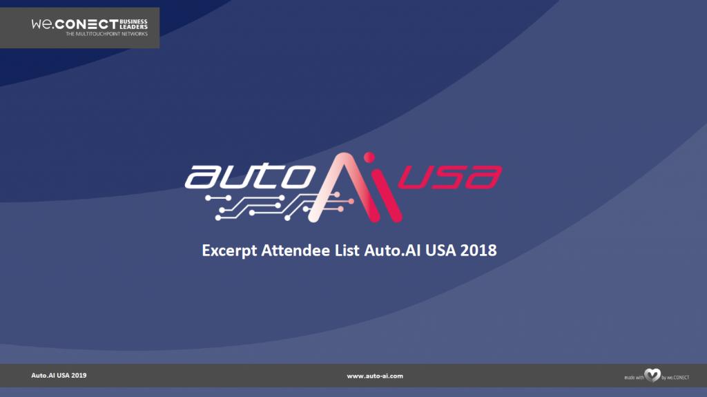 Attendee List AutoAI USA